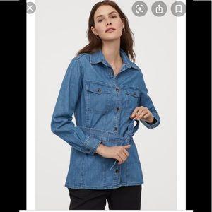 H&M  Denim Shirt Jacket